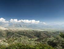 Południowej Albania wsi sceniczny krajobrazowy widok Zdjęcie Royalty Free