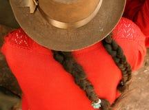 południowej ameryki kapelusz kobiety Zdjęcia Royalty Free