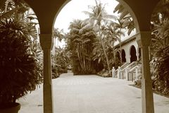 Południowy Floryda hotelu podwórze Obrazy Royalty Free