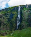 Południowy Iceland krajobraz z siklawą obrazy royalty free