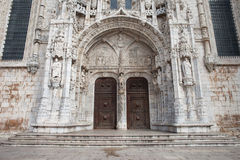Południowy portal Jeronimos monaster w Lisbon Zdjęcia Stock