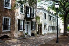 Południowy styl stwarza ognisko domowe na Gillion St Charleston, SC Fotografia Royalty Free