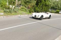 Południowy Tyrol Rallye 2016_Jaguar typ replika Zdjęcie Stock