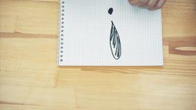 Po uzupełniać plan biznesowego młoda dziewczyna rysuje okrzyka punktu markiera Obracać obrazek kamera zbiory wideo
