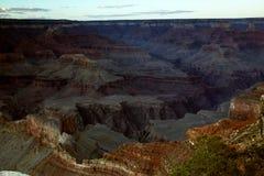 Po zmierzchów przy GrandCanyon parkiem narodowym, Arizona Fotografia Royalty Free