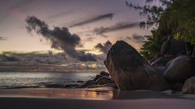 Po zmierzchu przy anse georgette na Seychelles 2 Fotografia Royalty Free