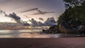 Po zmierzchu przy anse georgette na Seychelles 4 Fotografia Stock