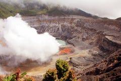 Poa Volcano, Costa Rica. A view of Poa Volcano in Costa Rica Smoking Stock Images