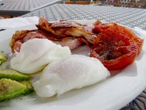 Poached Bacon with eggs 1 Stock Image
