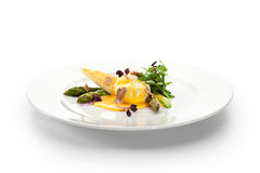 Poached Egg with Asparagus Royalty Free Stock Photo