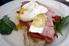 Poached Egg breakfast. With bacon Stock Images