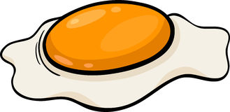 Poached egg cartoon illustration Stock Image