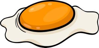 Poached egg cartoon illustration Stock Image