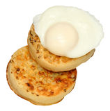 Poached Egg And Crumpets Royalty Free Stock Image