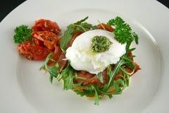 Poached Egg Pesto 1 Royalty Free Stock Photography