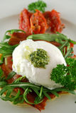 Poached Egg Pesto 2 Royalty Free Stock Photos