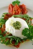 Poached Egg Pesto 2 royalty free stock photos