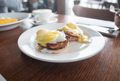 Poached egg and the rest Stock Photography