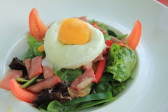 Poached egg and salad Royalty Free Stock Images