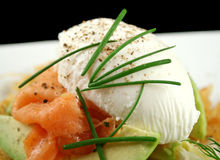 Poached Egg And Salmon Royalty Free Stock Photography