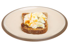 Poached Egg on Toast Stock Image