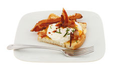 Poached egg on toast Royalty Free Stock Image