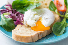Poached egg toast Stock Photography