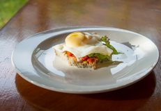 Poached egg Royalty Free Stock Photography