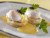 Poached eggs Stock Images