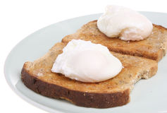 Poached Eggs on Toast Stock Photography
