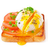 Poached eggs Stock Photos