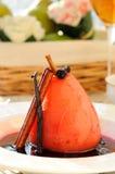 Poached pear Stock Photos