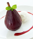 Poached pear Royalty Free Stock Image