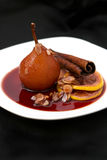 Poached pear Stock Photos