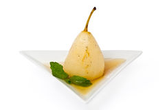Poached Pear Royalty Free Stock Photos