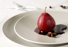 Poached Pear Royalty Free Stock Images