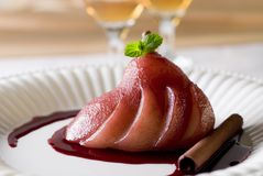 Poached Pear Royalty Free Stock Photo
