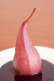 Poached pear Stock Photography