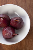 Poached pears from above Stock Images