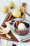 Poached pears Stock Photos