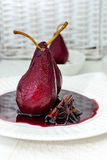 Poached pears Stock Photography