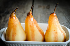 Poached pears Royalty Free Stock Images