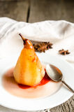 Poached pears Stock Image