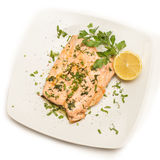 Poached Salmon Royalty Free Stock Photography
