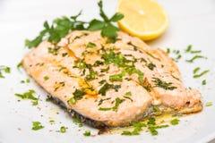 Poached Salmon Stock Photos