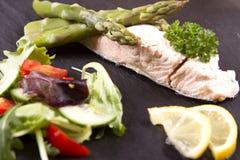 Poached salmon Stock Image