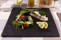 Poached salmon Royalty Free Stock Images
