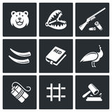 Poaching icons. Vector Illustration. Royalty Free Stock Photos