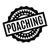 Poaching rubber stamp Royalty Free Stock Image