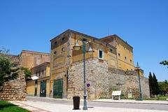 Recreative and Cultural building, Faro. The Recreative and Cultural Association of Musicians building Associacao Recreative E Cultural De Musicos along R do royalty free stock photos